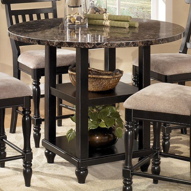 bachmon round counter height table signature design