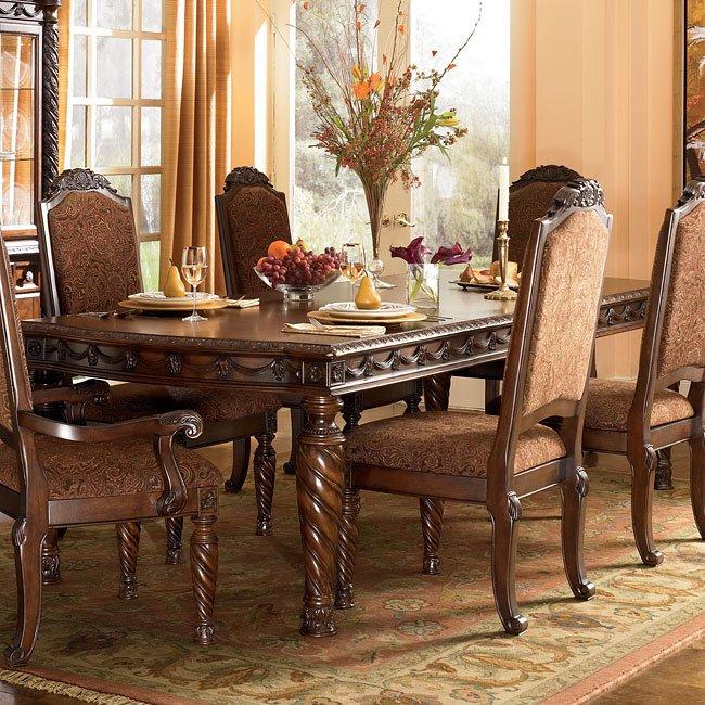 North Shore Rectangular Extension Table Signature Design By Ashley Furniture Furniturepick