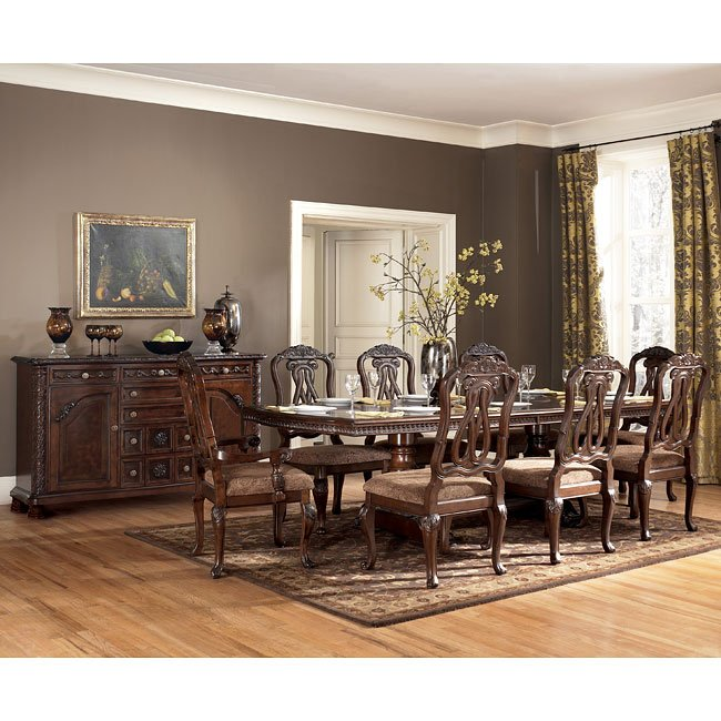 North Shore Dining Room Set: North Shore Pedestal Dining Room Set Signature Design By