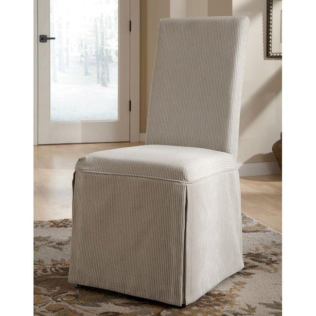 Burkesville Striped Slipcover Side Chair (Set Of 2)