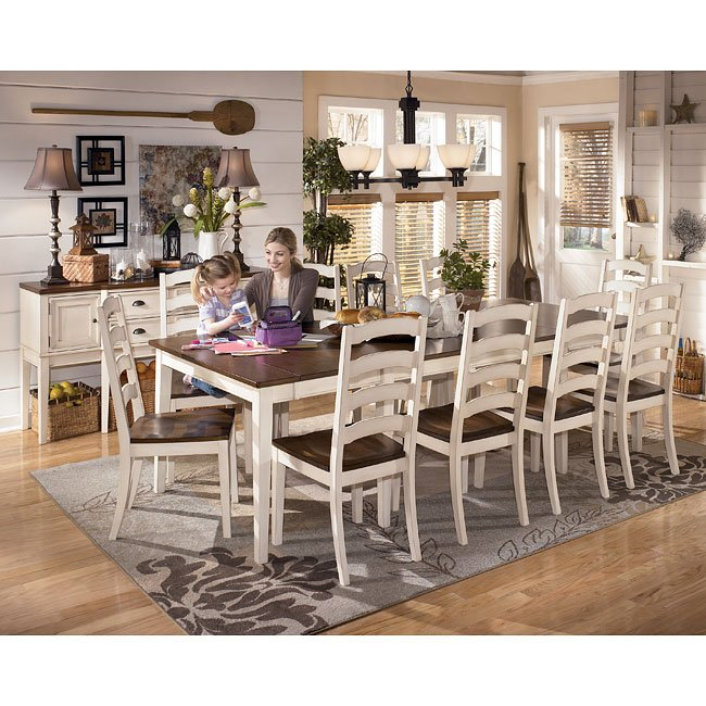 Whitesburg Formal Dining Room Set W 2 Chair Choices