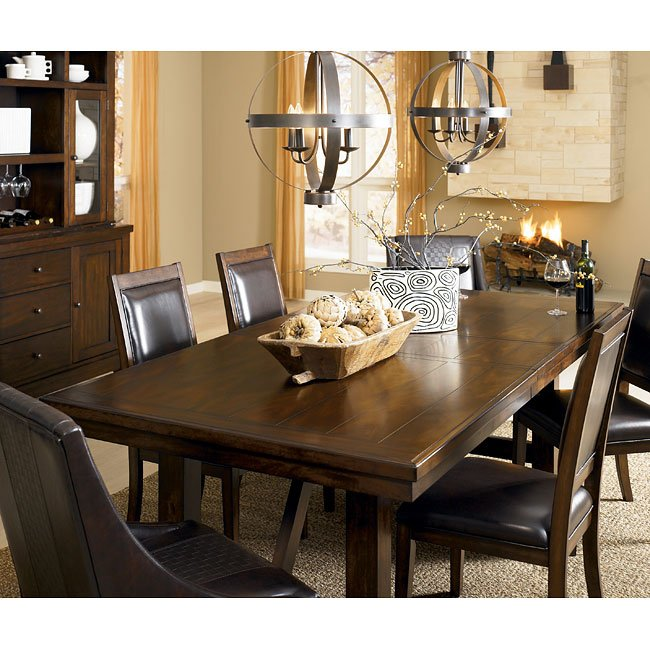Holloway Formal Dining Room Set W Arm Chairs