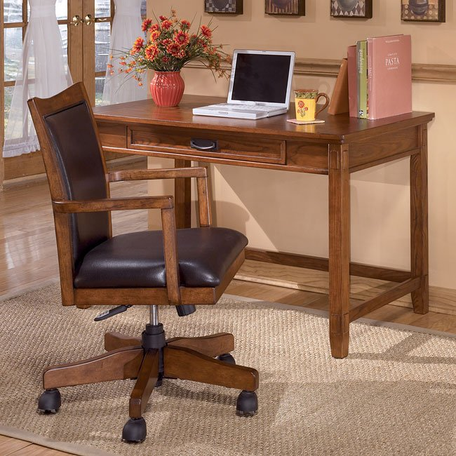 Cross Island Home Office Set W/ Leg Desk