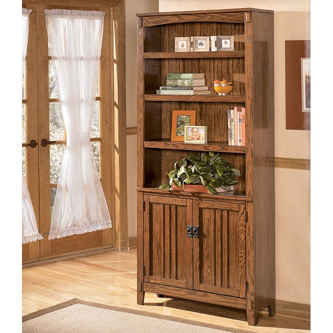 Cross Island Large Door Bookcase Signature Design By