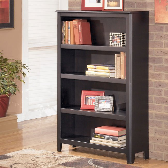 Carlyle medium bookcase by signature design by ashley - Ashley wilkes bedroom collection ...