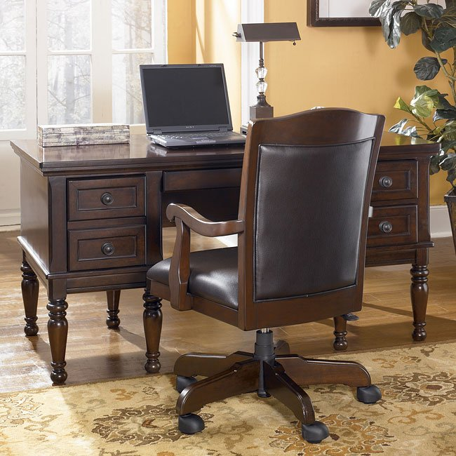 Porter Home Office Set With Storage Desk