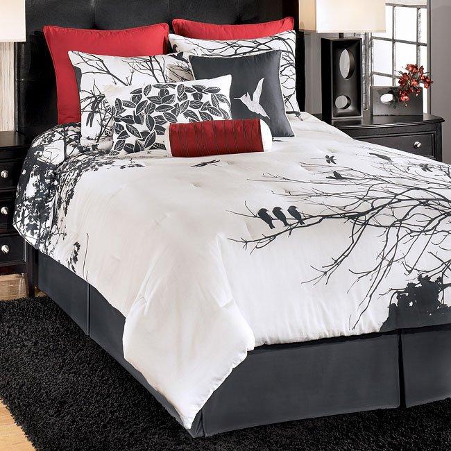 Amalia Red Bedding Set Signature Design By Ashley