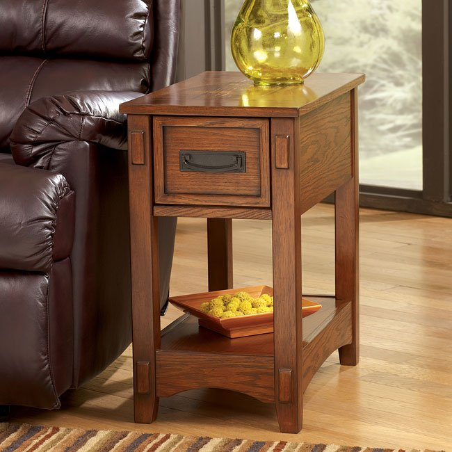 Mission Style Chairside End Table