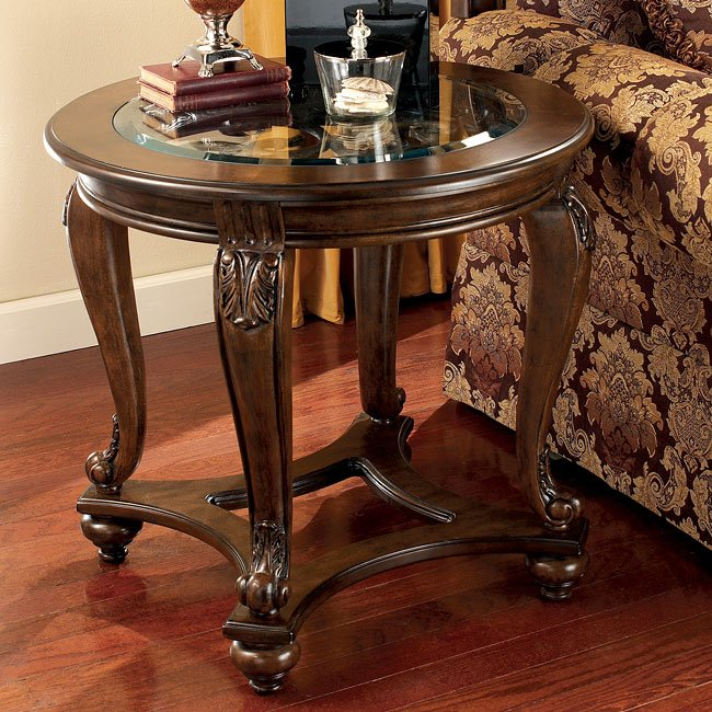 Norcastle Sofa Table: Norcastle Round End Table Signature Design By Ashley