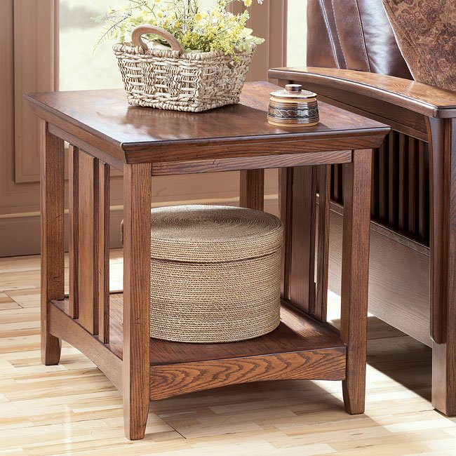Wilkes rectangular end table by signature design by ashley - Ashley wilkes bedroom collection ...