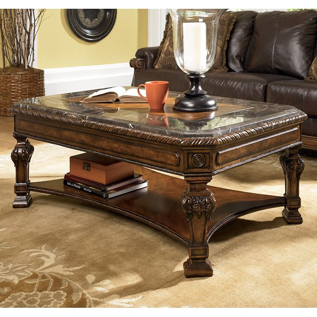 Ashley Furniture Distressed Coffee Table: Casa Mollino Rectangular Cocktail Table By Signature