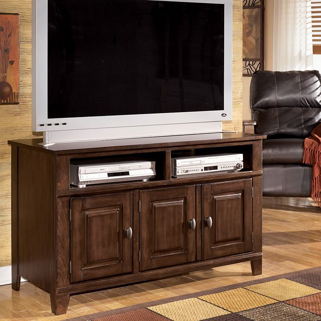 larchmont 50 inch tv stand by signature design by ashley furniturepick. Black Bedroom Furniture Sets. Home Design Ideas