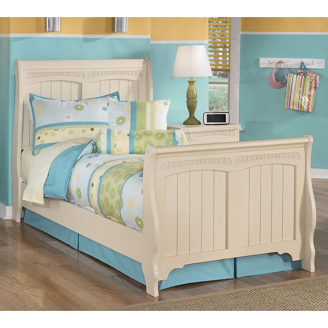 Cottage retreat sleigh bed signature design by ashley furniture furniturepick Cottage retreat collection bedroom furniture