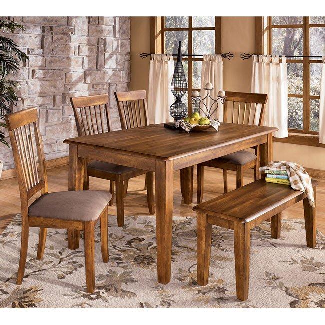 Berringer Dining Room Set With Bench Signature Design By Ashley Furniture Furniturepick