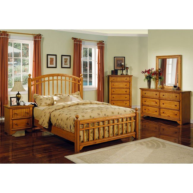 Country Pine Panel Bedroom Set World Imports Furniturepick