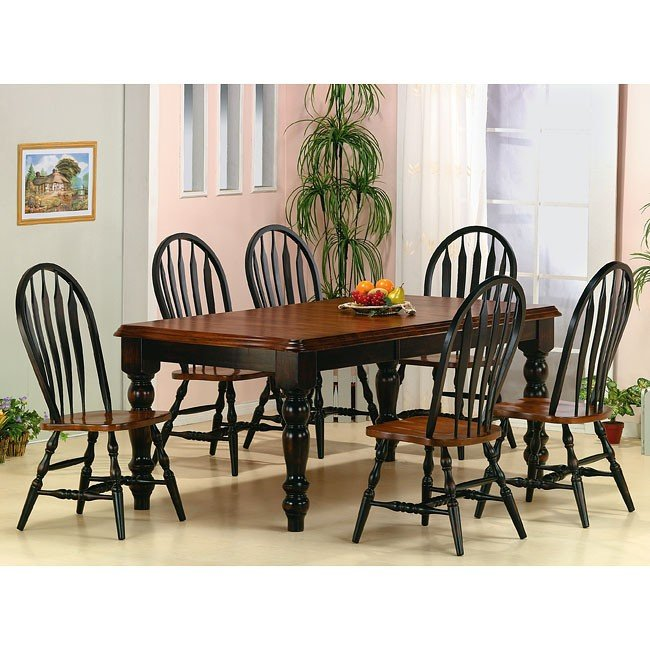 Black and Cherry Dining Room Set