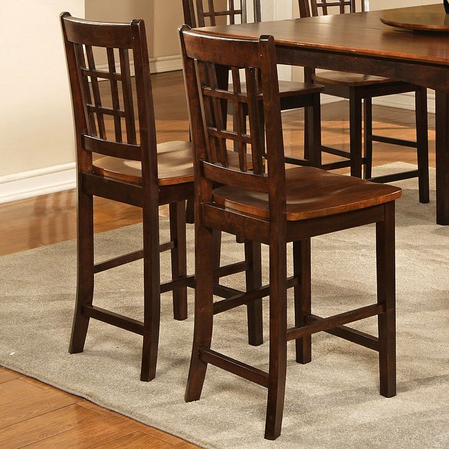Two-Tone Brown Counter Height Stool (Set Of 2) World