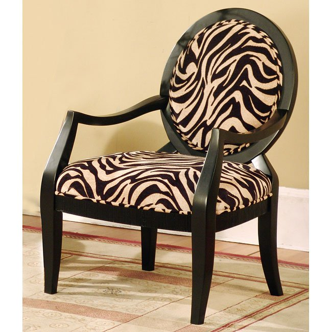 Missoni Style Print Accent Chair: Animal Print Accent Chair By World Imports