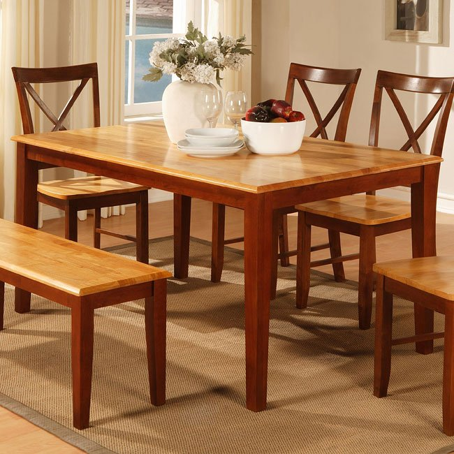 Two Tone Cherry Dining Table